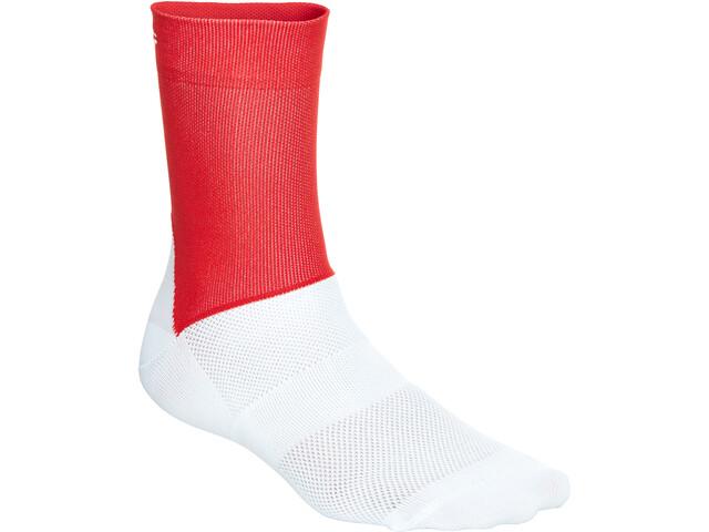 POC Essential Road Socks Herren prismane red/hydrogen white